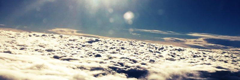 Il cielo sul volo Roma - Lourdes