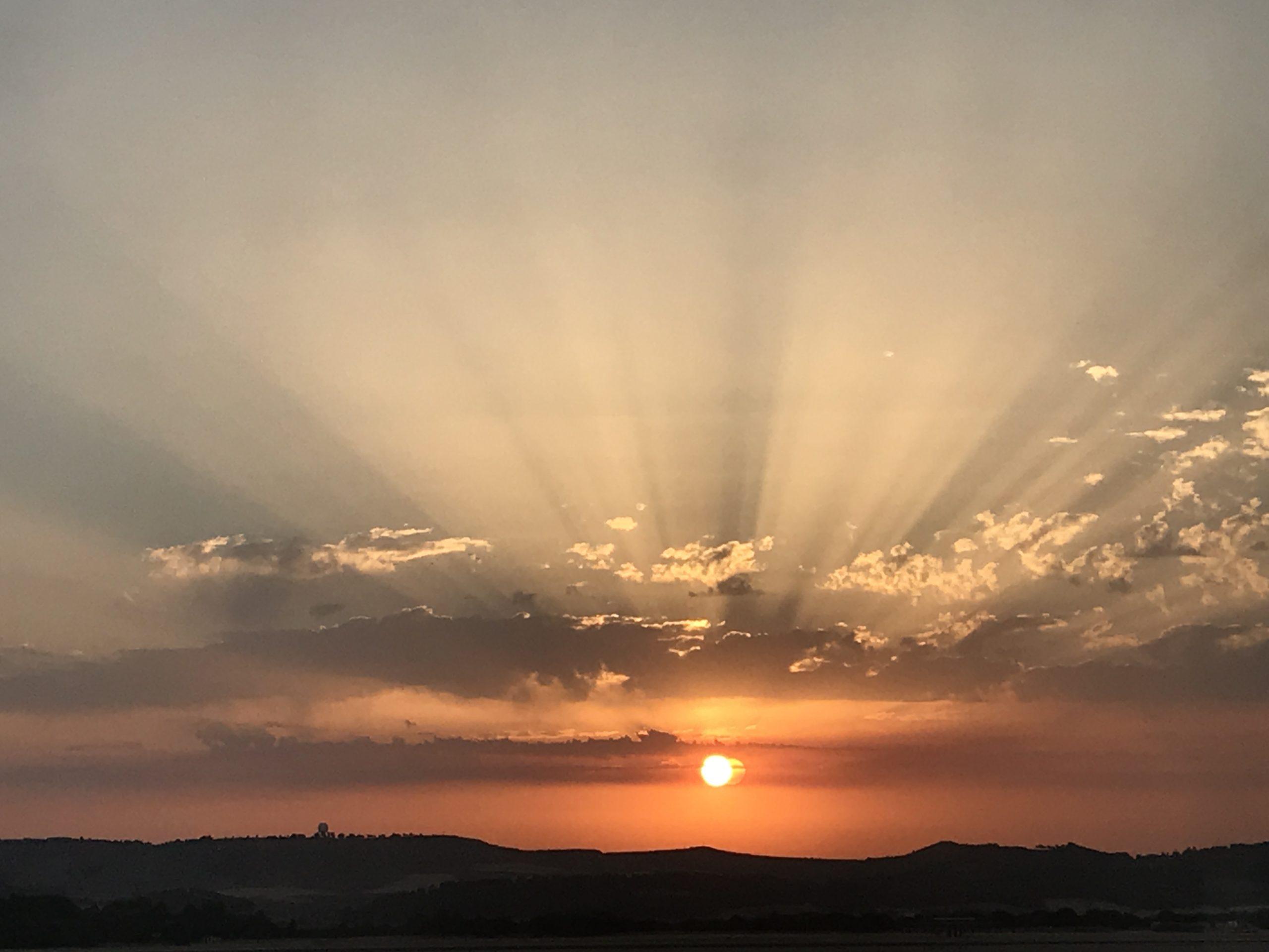 il mio ultimo tramonto sul cammino di Santiago