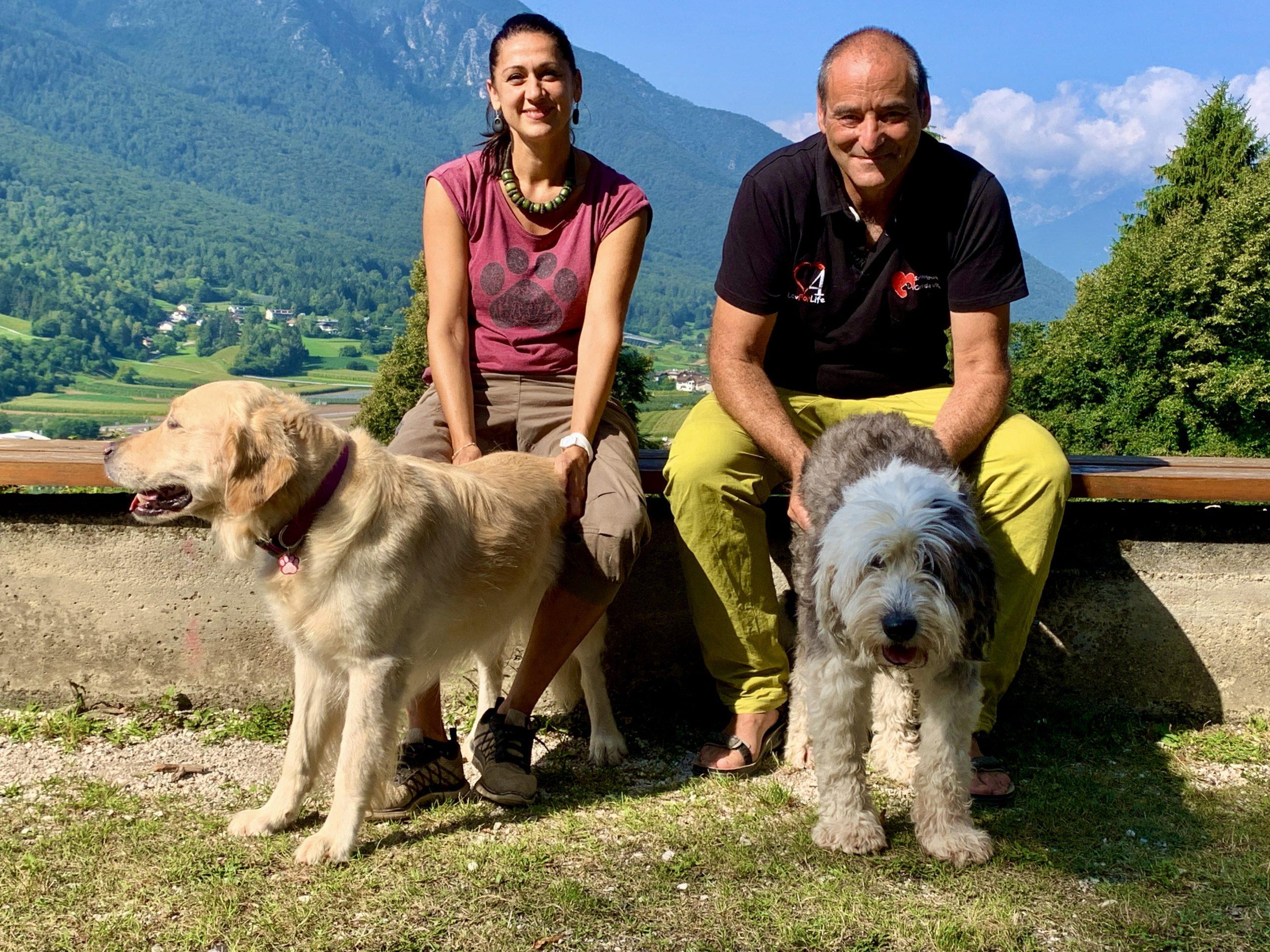 Damiano con Annalisa, Kumba e Babette
